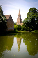 Church Spire Reflection